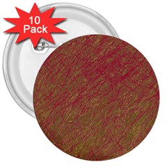 Brown Pattern 3  Buttons (10 Pack)  by Valentinaart