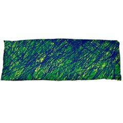 Green Pattern Body Pillow Case (dakimakura) by Valentinaart
