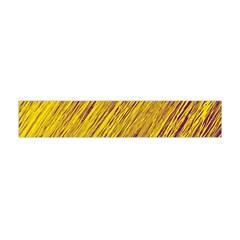 Yellow Van Gogh pattern Flano Scarf (Mini) by Valentinaart