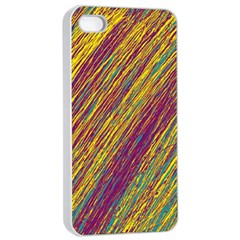 Yellow, Purple And Green Van Gogh Pattern Apple Iphone 4/4s Seamless Case (white) by Valentinaart