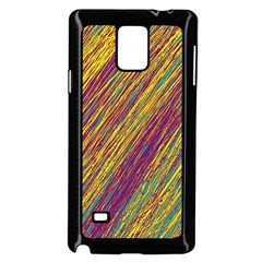 Yellow, Purple And Green Van Gogh Pattern Samsung Galaxy Note 4 Case (black) by Valentinaart