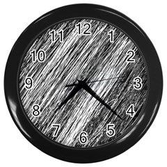 Black And White Decorative Pattern Wall Clocks (black) by Valentinaart