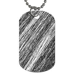 Black And White Decorative Pattern Dog Tag (two Sides) by Valentinaart
