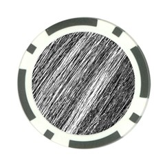 Black And White Decorative Pattern Poker Chip Card Guards by Valentinaart