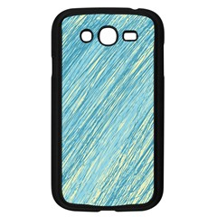 Light Blue Pattern Samsung Galaxy Grand Duos I9082 Case (black) by Valentinaart