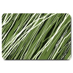 Green decorative pattern Large Doormat