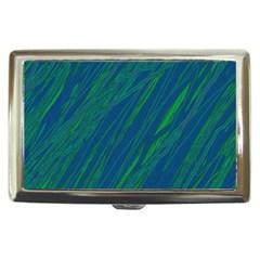 Green pattern Cigarette Money Cases by Valentinaart