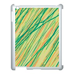Green And Orange Pattern Apple Ipad 3/4 Case (white) by Valentinaart