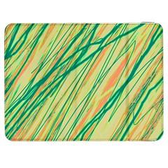 Green and orange pattern Samsung Galaxy Tab 7  P1000 Flip Case by Valentinaart