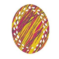 Orange pattern Ornament (Oval Filigree)