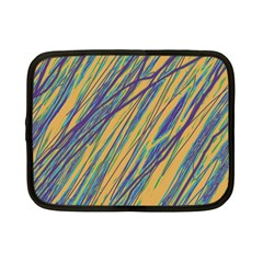 Blue And Yellow Van Gogh Pattern Netbook Case (small)  by Valentinaart