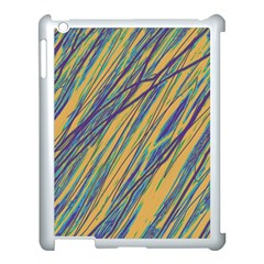 Blue And Yellow Van Gogh Pattern Apple Ipad 3/4 Case (white) by Valentinaart