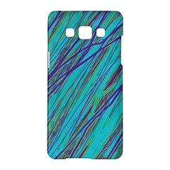 Blue pattern Samsung Galaxy A5 Hardshell Case  by Valentinaart