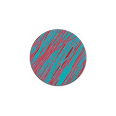 Red And Blue Pattern Golf Ball Marker (4 Pack) by Valentinaart