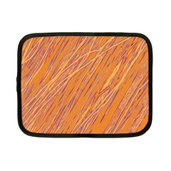 Orange Pattern Netbook Case (small)  by Valentinaart