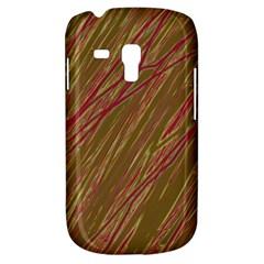 Brown elegant pattern Samsung Galaxy S3 MINI I8190 Hardshell Case by Valentinaart