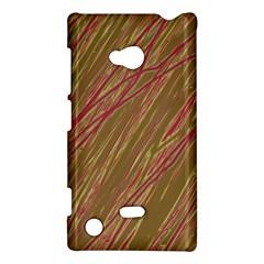 Brown Elegant Pattern Nokia Lumia 720 by Valentinaart