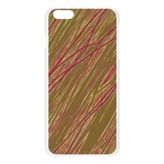 Brown elegant pattern Apple Seamless iPhone 6 Plus/6S Plus Case (Transparent) by Valentinaart