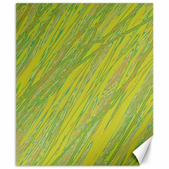 Green and yellow Van Gogh pattern Canvas 8  x 10