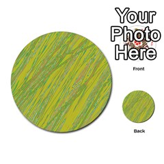 Green And Yellow Van Gogh Pattern Multi Purpose Cards (round)  by Valentinaart