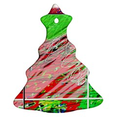 Colorful Pattern Christmas Tree Ornament (2 Sides) by Valentinaart