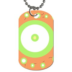 Green And Orange Design Dog Tag (one Side) by Valentinaart
