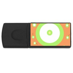 Green and orange design USB Flash Drive Rectangular (4 GB)