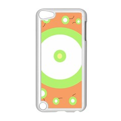 Green And Orange Design Apple Ipod Touch 5 Case (white) by Valentinaart