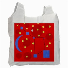 Red Sky Recycle Bag (one Side) by Valentinaart