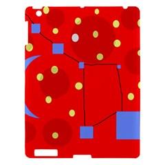 Red sky Apple iPad 3/4 Hardshell Case by Valentinaart