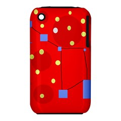 Red sky Apple iPhone 3G/3GS Hardshell Case (PC+Silicone) by Valentinaart
