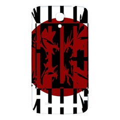 Red, black and white decorative abstraction Samsung Galaxy Mega I9200 Hardshell Back Case by Valentinaart