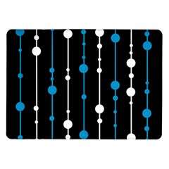 Blue, White And Black Pattern Samsung Galaxy Tab 10 1  P7500 Flip Case by Valentinaart