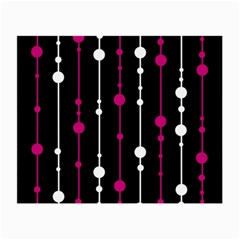 Magenta White And Black Pattern Small Glasses Cloth by Valentinaart