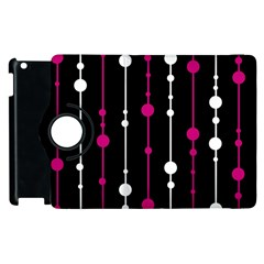 Magenta White And Black Pattern Apple Ipad 3/4 Flip 360 Case by Valentinaart