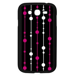 Magenta White And Black Pattern Samsung Galaxy Grand Duos I9082 Case (black) by Valentinaart