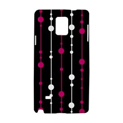 Magenta White And Black Pattern Samsung Galaxy Note 4 Hardshell Case by Valentinaart
