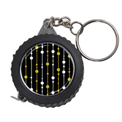 yellow, black and white pattern Measuring Tapes by Valentinaart