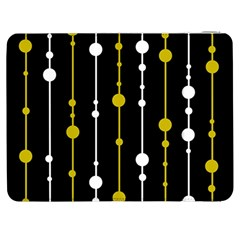 yellow, black and white pattern Samsung Galaxy Tab 7  P1000 Flip Case by Valentinaart