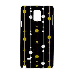 yellow, black and white pattern Samsung Galaxy Note 4 Hardshell Case by Valentinaart
