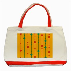 Yellow, green and red pattern Classic Tote Bag (Red) by Valentinaart