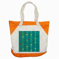Green, Yellow And Red Pattern Accent Tote Bag by Valentinaart