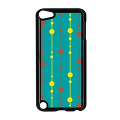 Green, Yellow And Red Pattern Apple Ipod Touch 5 Case (black) by Valentinaart