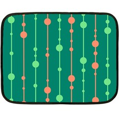 Green Pattern Fleece Blanket (mini) by Valentinaart