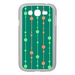 Green Pattern Samsung Galaxy Grand Duos I9082 Case (white) by Valentinaart