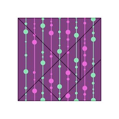 Purple And Green Pattern Acrylic Tangram Puzzle (4  X 4 ) by Valentinaart