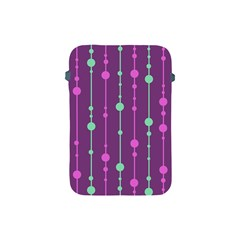 Purple And Green Pattern Apple Ipad Mini Protective Soft Cases by Valentinaart