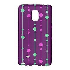 Purple and green pattern Galaxy Note Edge by Valentinaart