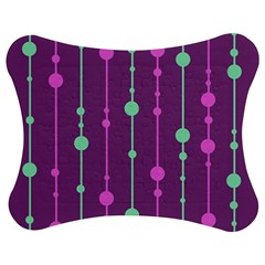 Purple And Green Pattern Jigsaw Puzzle Photo Stand (bow) by Valentinaart