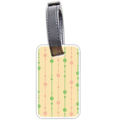 Pastel Pattern Luggage Tags (one Side)  by Valentinaart